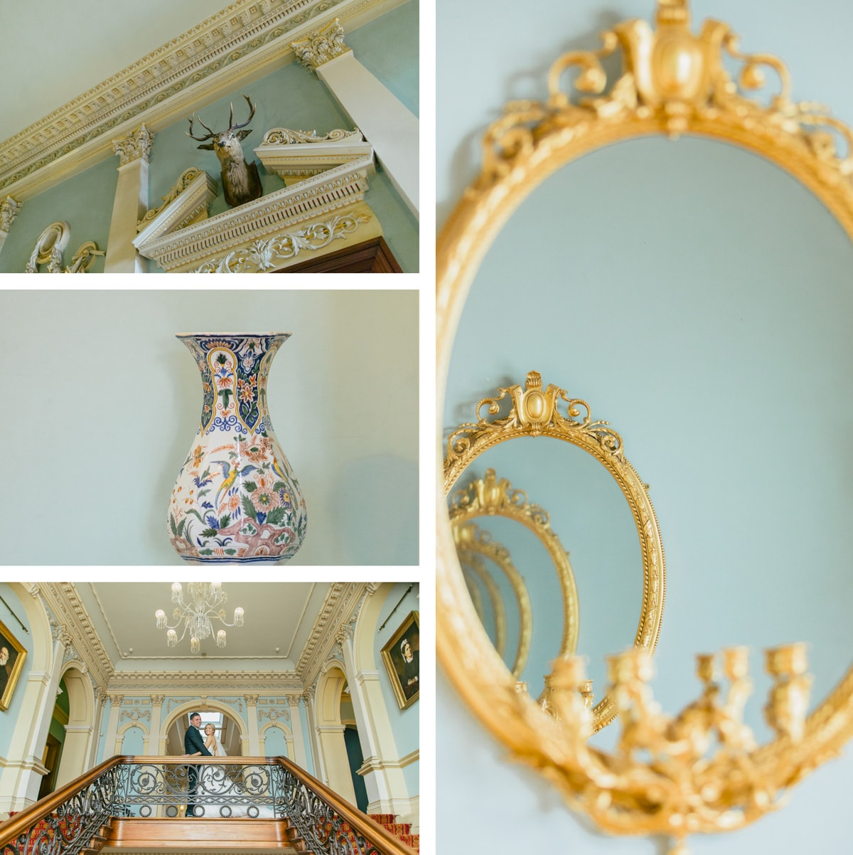 luxury details in a different time - wedding photography at werribee mansion - old paintings and building in the 1870s