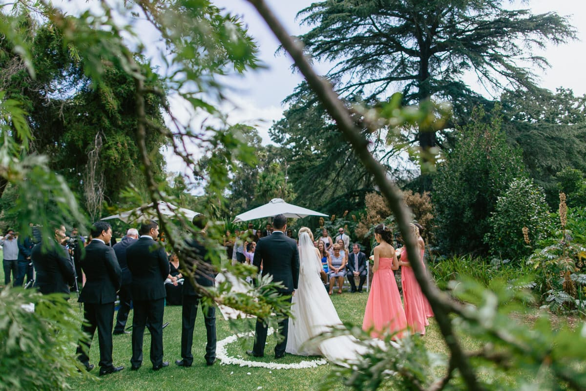 park ceremony wedding photography in melbourne