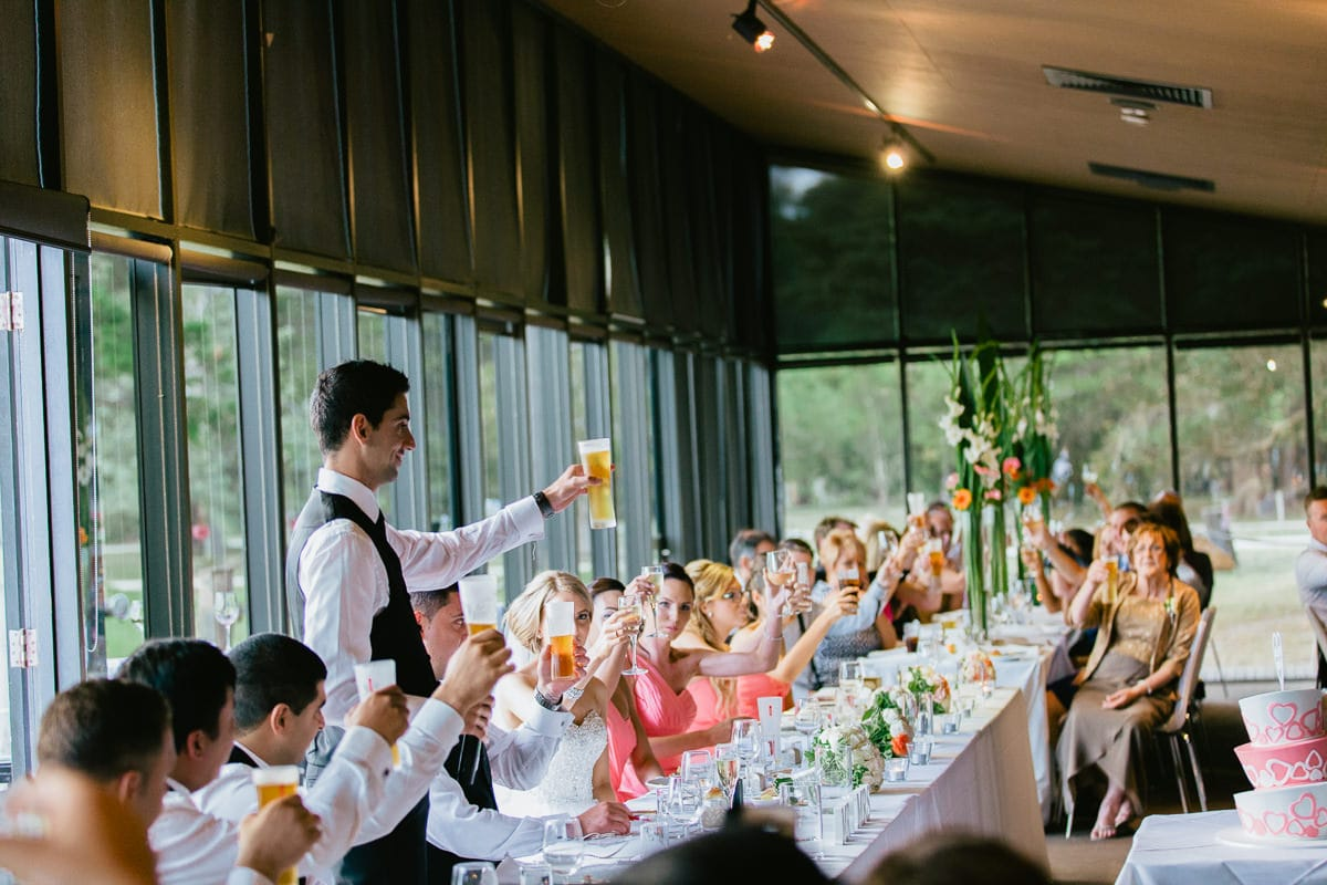 cheers - a toast to the wedding couple