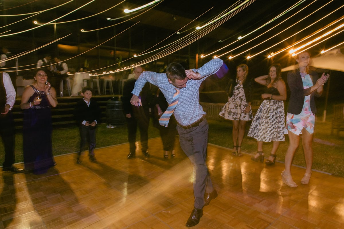 best dance shot ever - wedding moonwalk