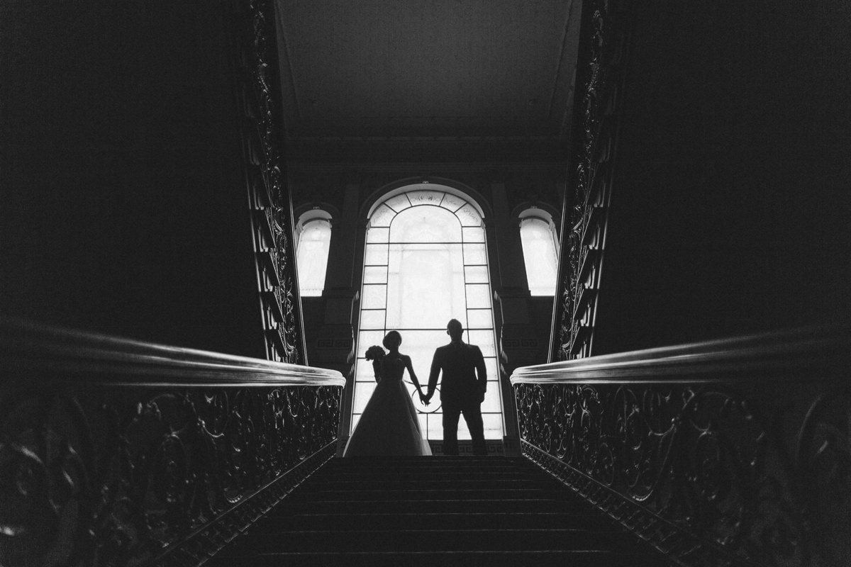 silhouette wedding photography in melbourne