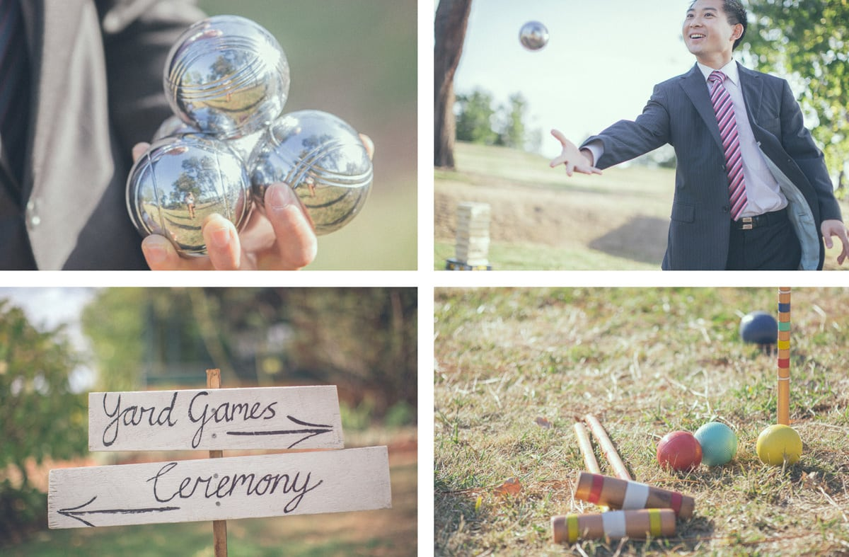 yard games - fun enjoyment for wedding guests
