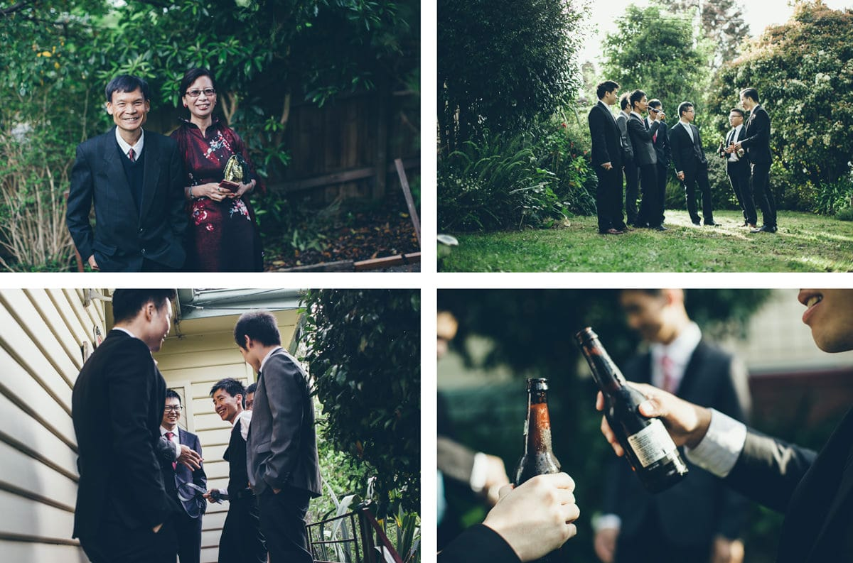 getting ready at the grooms house in box hill - chinese wedding photographer