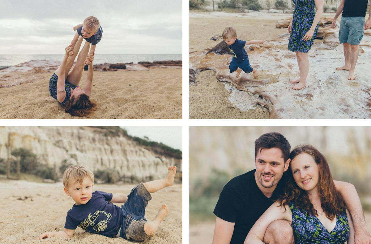 family photos at the beach - fun and relaxed