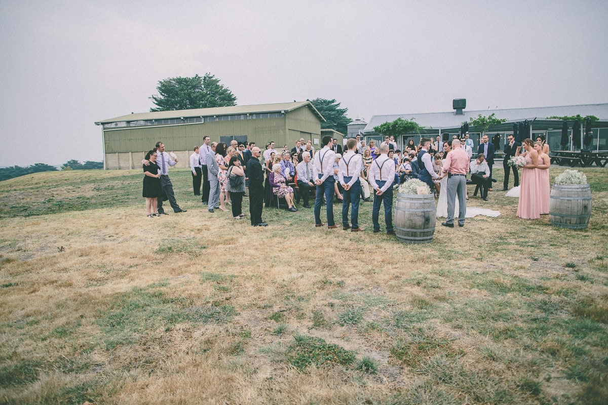 outdoor ceremony in the vineyards in the yarra valley