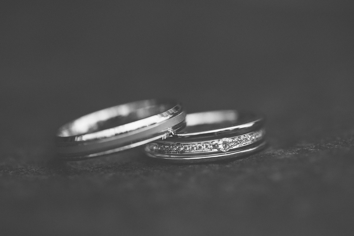 wedding rings - creative black and white photography