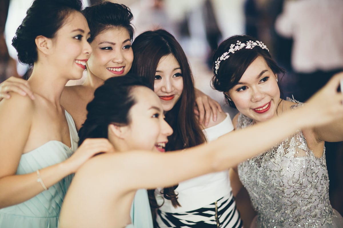 selfie time at chinese wedding - who gets the best photos
