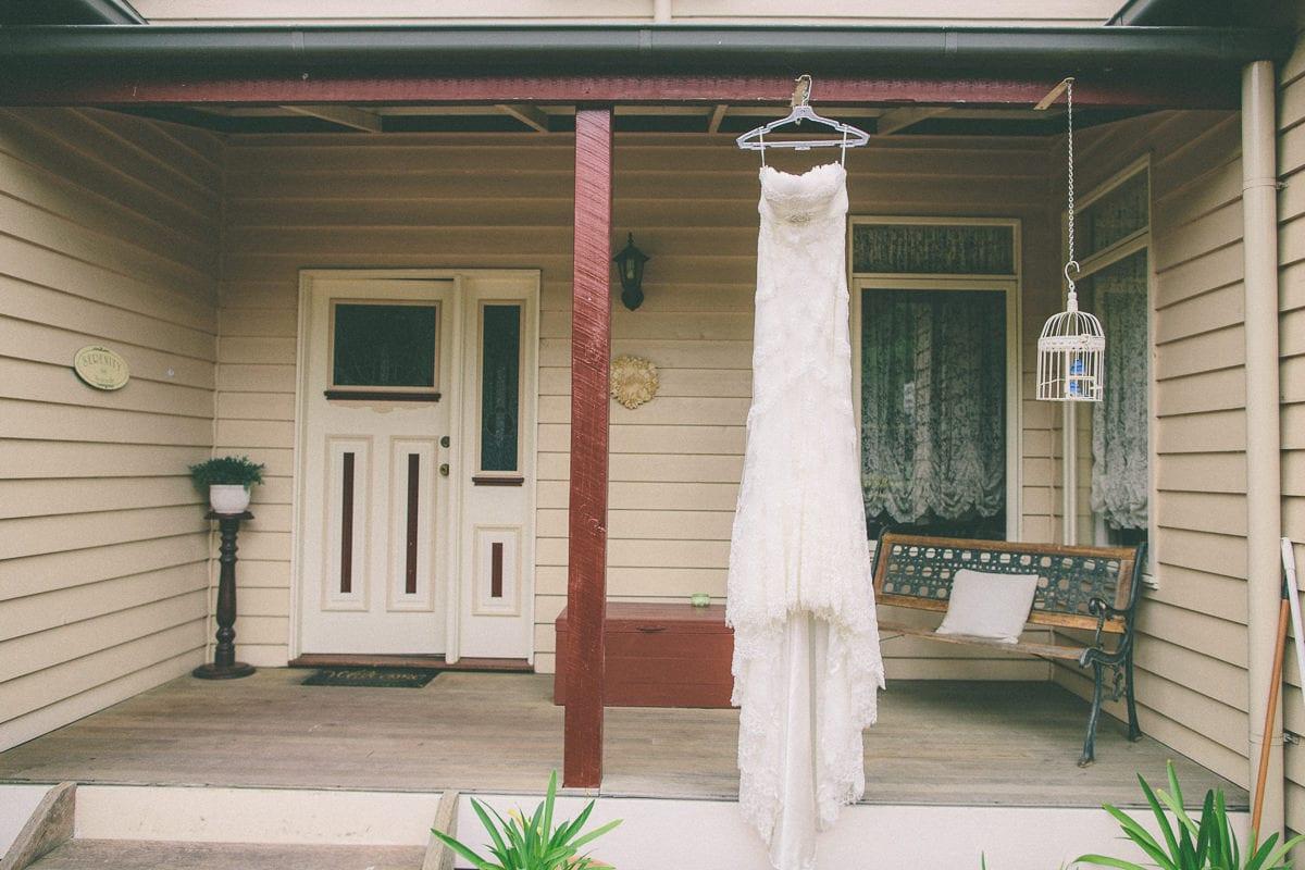 Wedding Dress - Vineyard wedding in the Yarra Valley - Photographer captures wedding