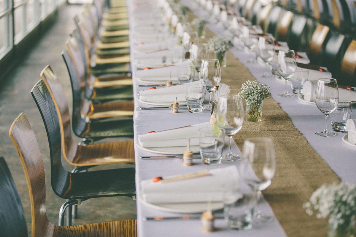 table setting in the yarra valley