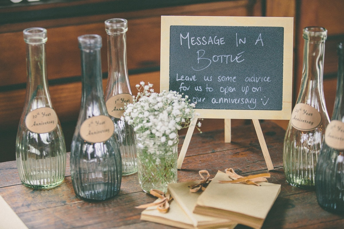 Message in a Bottle - Wedding decoration ideas