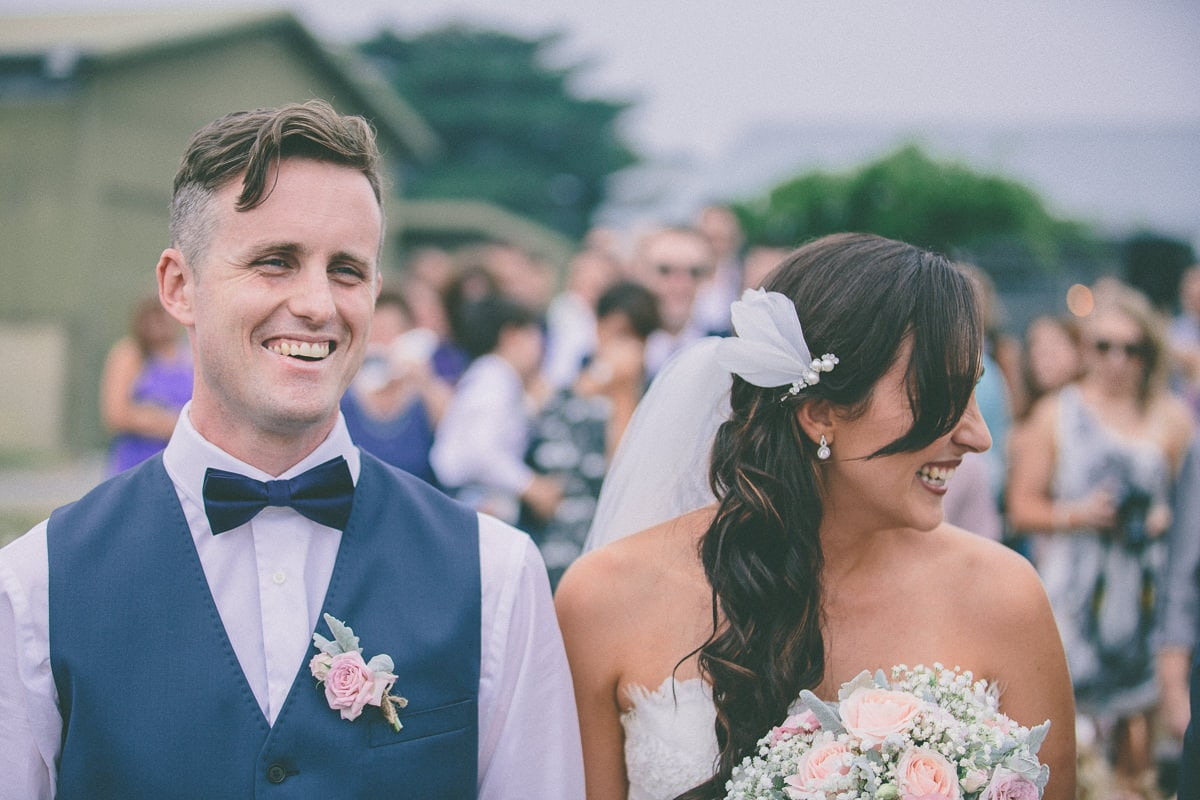 fun and relaxed wedding ceremony captured by melbourne photographer in the yarra valley
