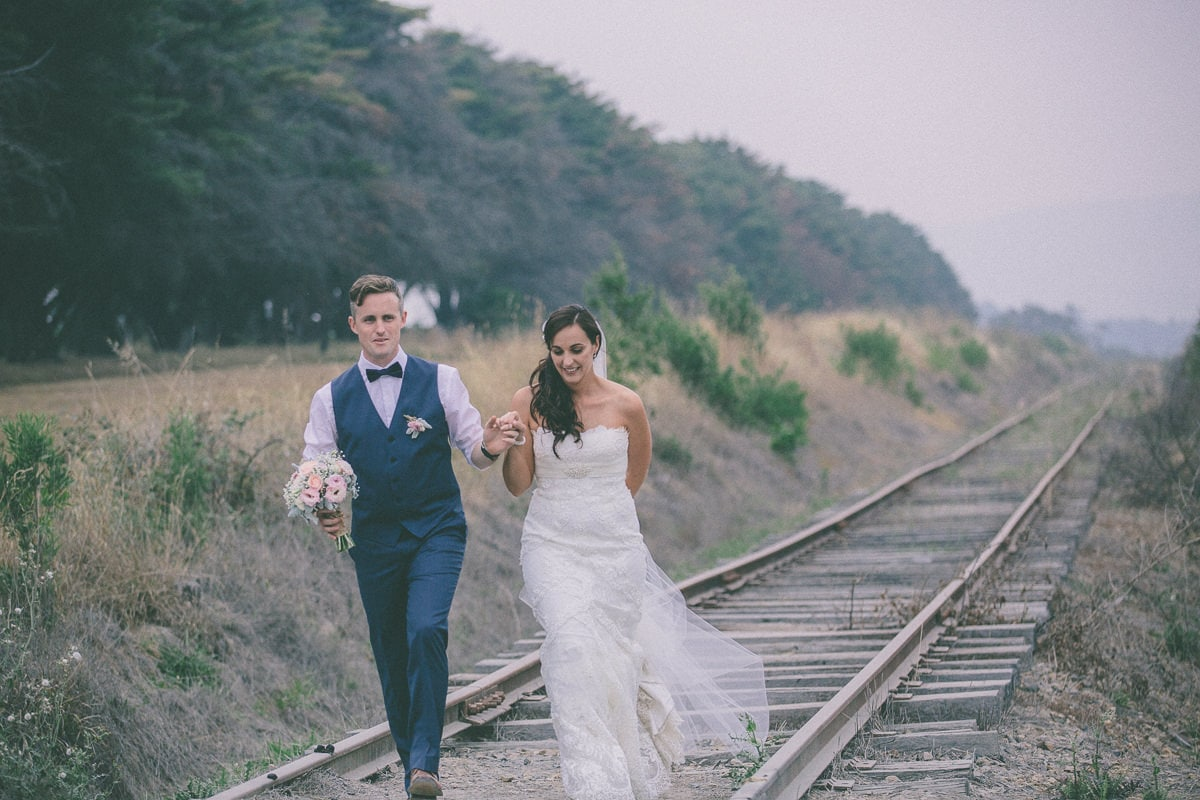 yarra valley weddings at train tracks