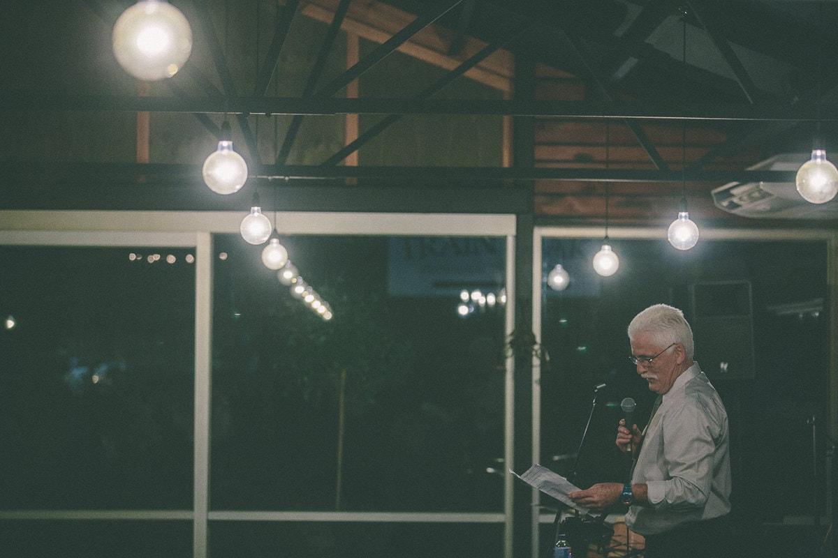 wedding speeches - creative night photography