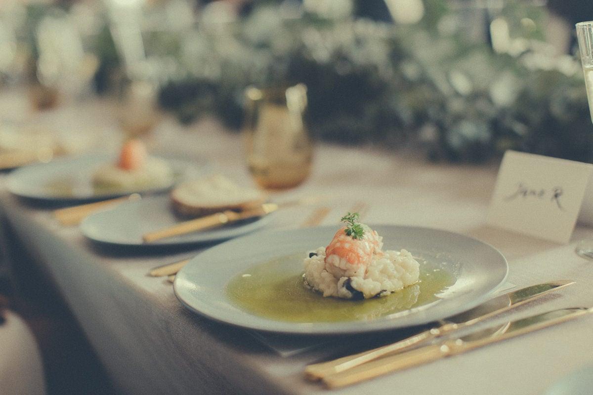 luxury food at wedding