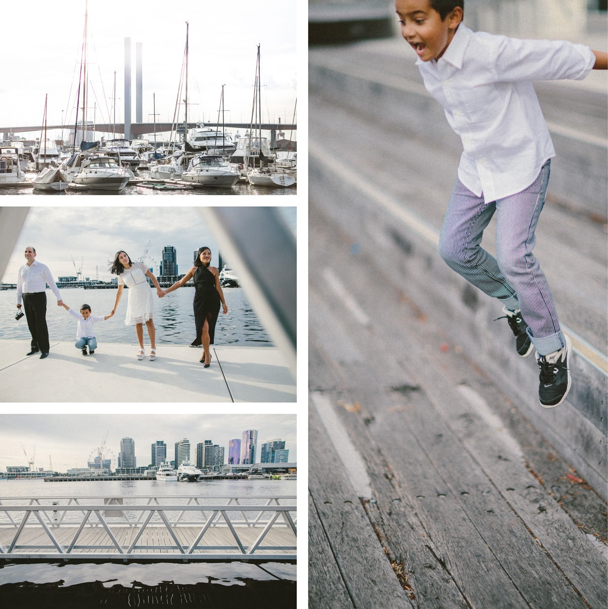 family photography in melbourne - kids jumping and having fun - relaxed and candid style of photography