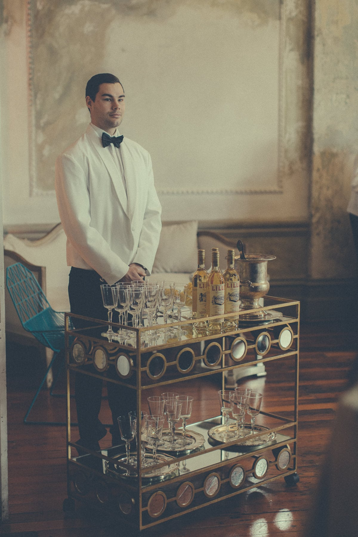 luxurious wedding melbourne - stylish waiter