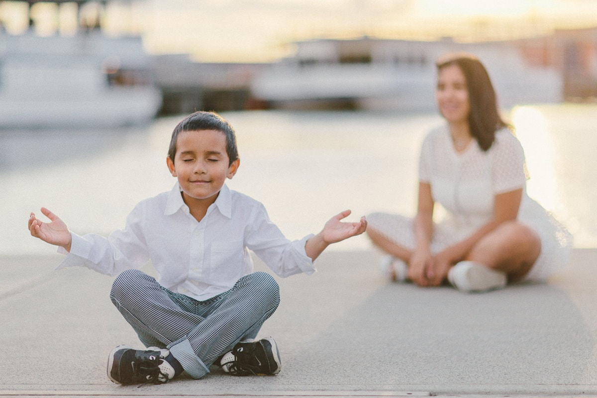 kids meditation photo