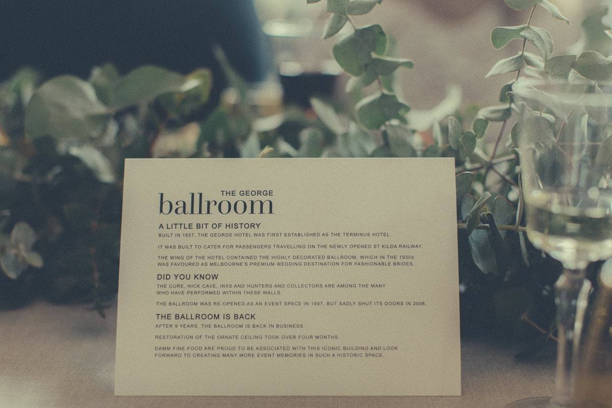 george ballroom - functions and wedding venue in melbourne - luxury and style
