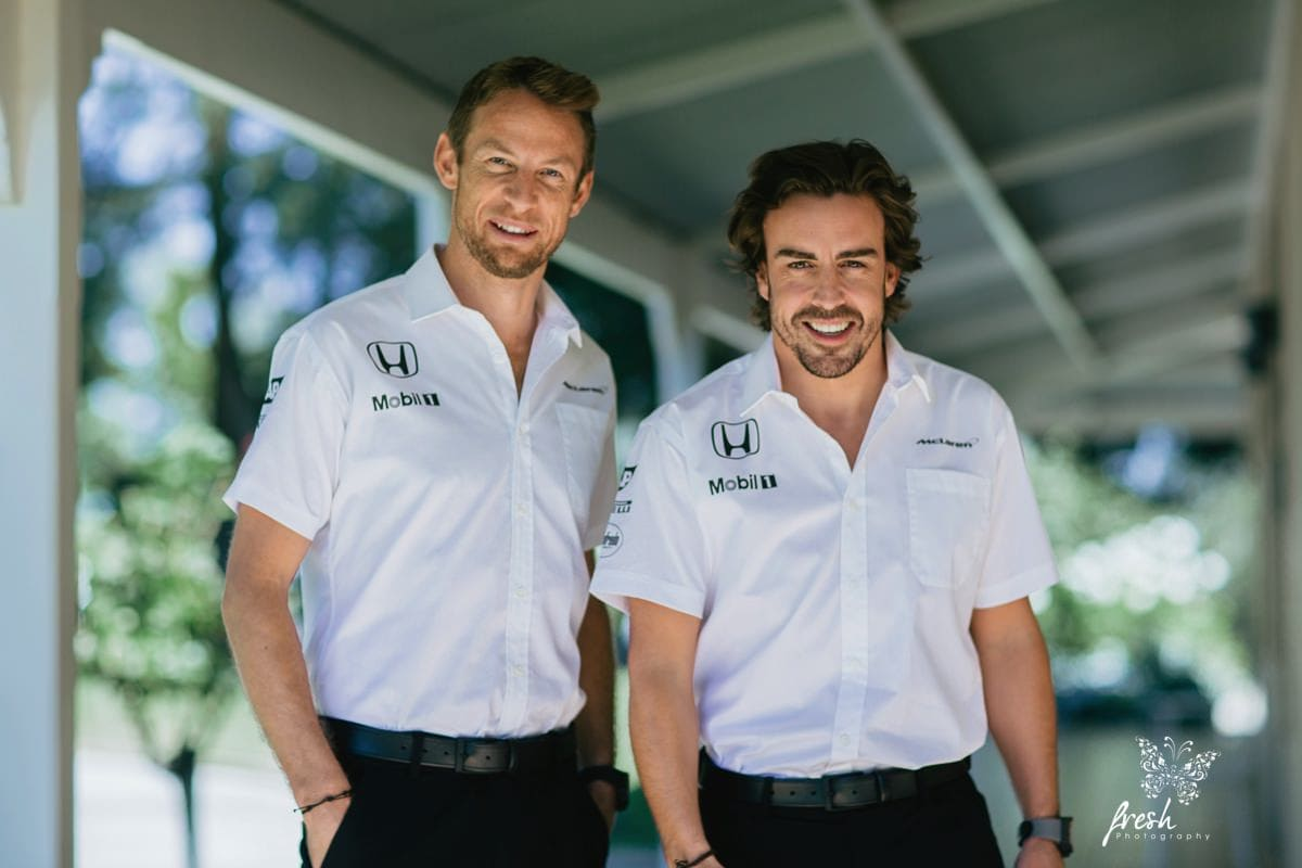 Fernando Alonso and Jenson Button - Portrait close - Melbourne F1 pictures