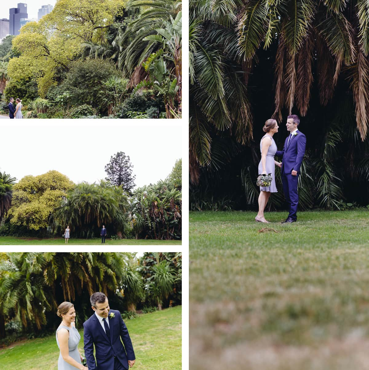 treasury gardens wedding photographer in melbourne