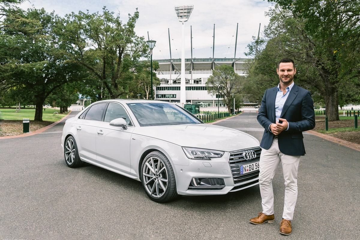 Audi Ambassador Darren Palmer at MCG - corporate event