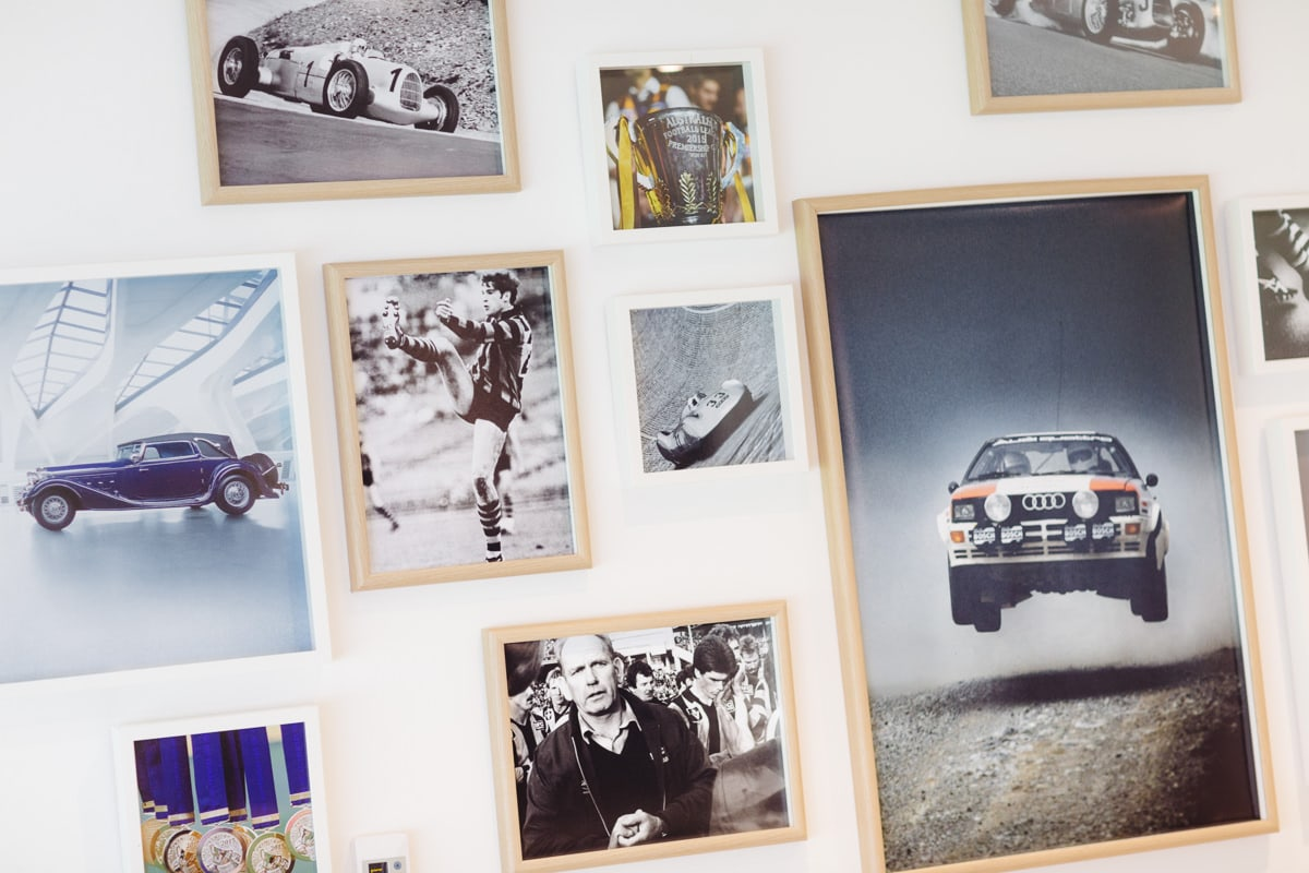 Audi design picture wall - corporate event photography