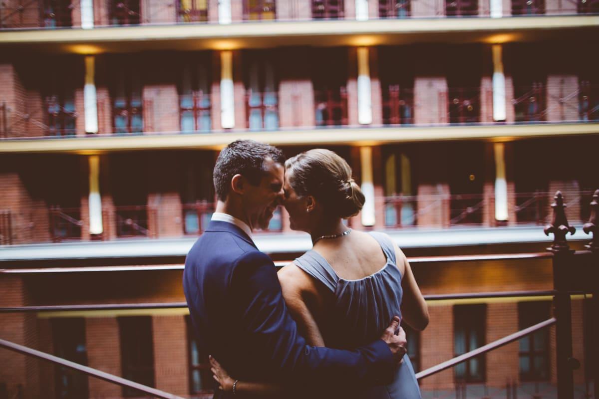 on the balcony of the interconti melbourne - creative wedding photographer