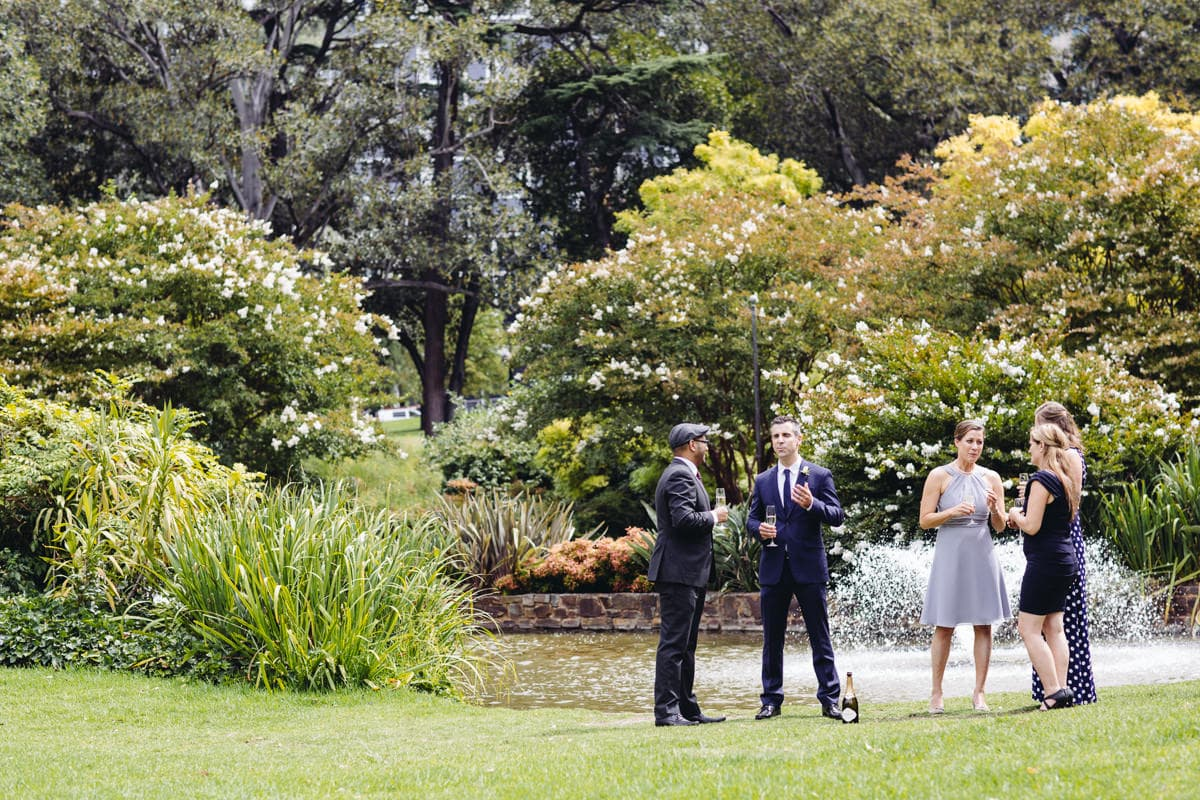 wedding in treasury gardens
