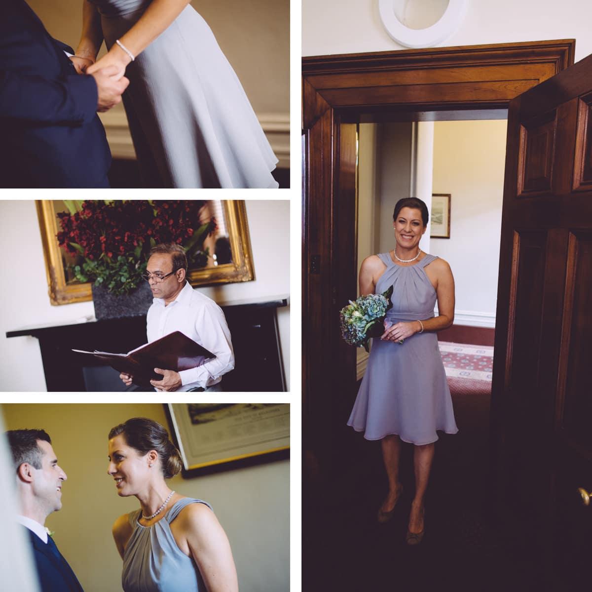 beautiful bride in melbourne - photographer captures small overseas wedding