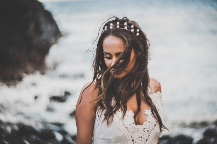 wedding movie melbourne - bridal portraits a bit different - nature and wild look