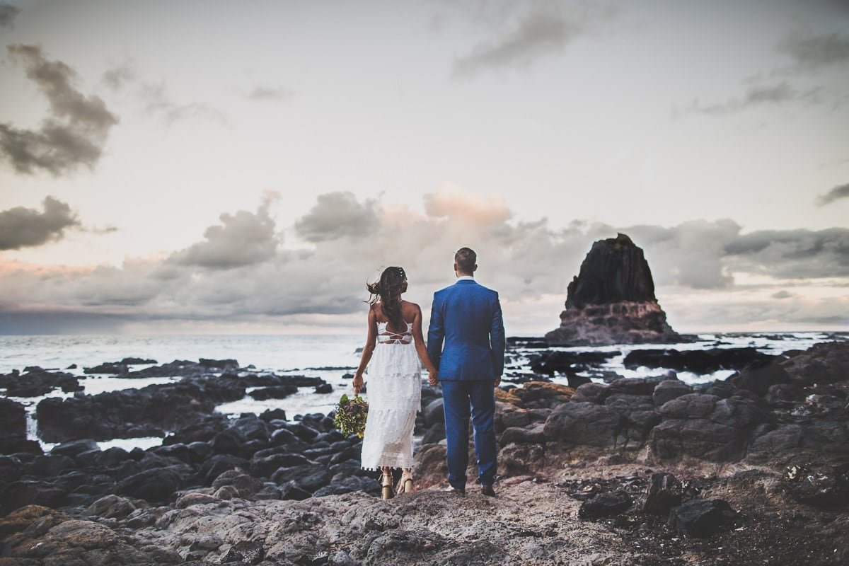 beautiful couple at the ocean - melbourne bay wedding photos