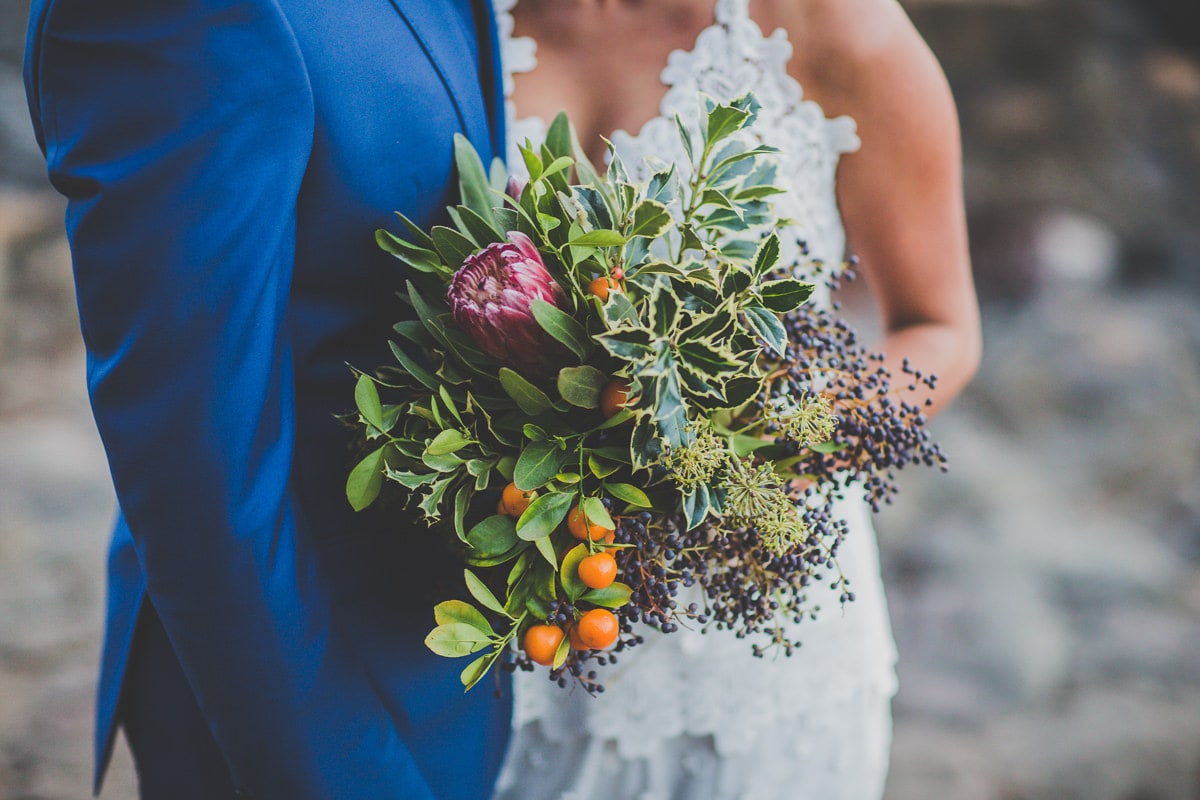 native rustic wedding bouquet - wild and rough - different look