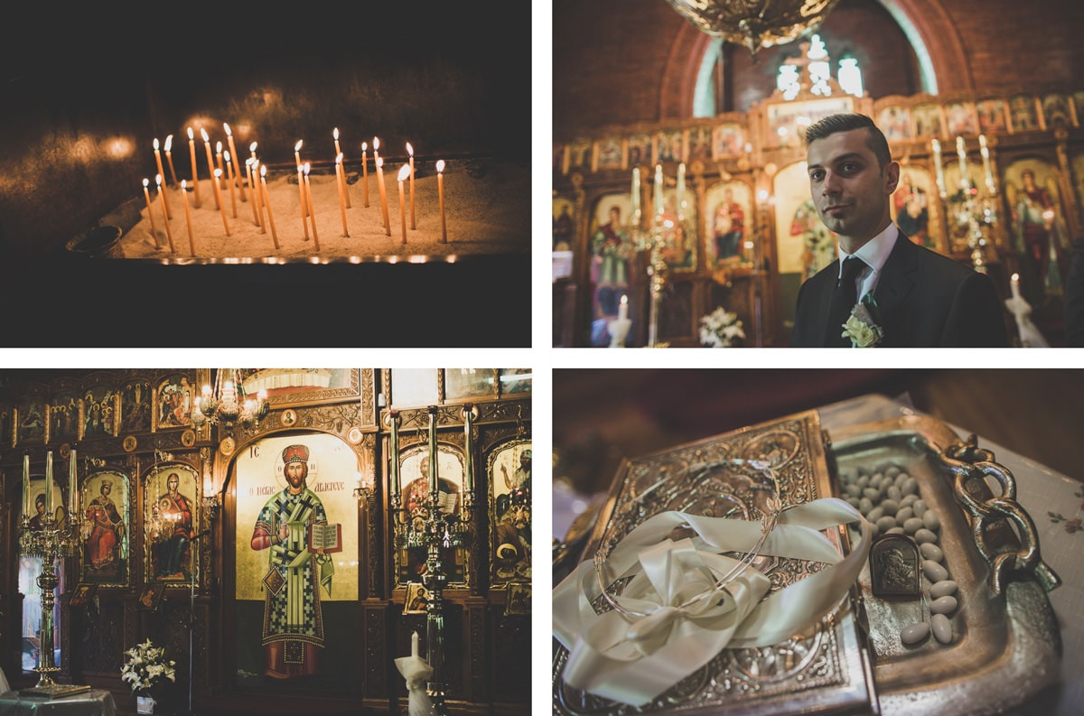 greek wedding in melbourne - photography at St Catherines church