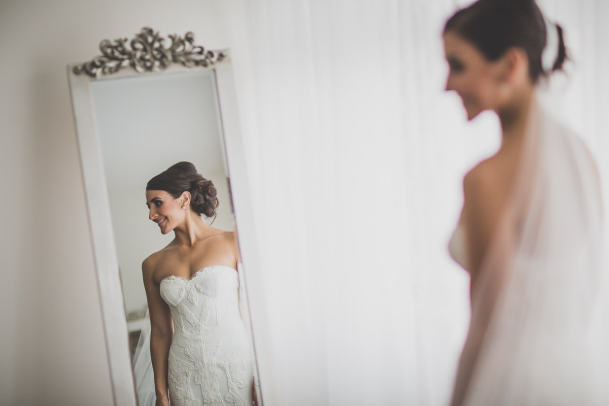mirror wedding photos