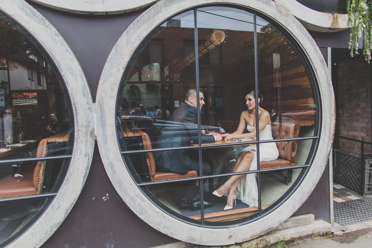 wedding photos at the prahran hotel