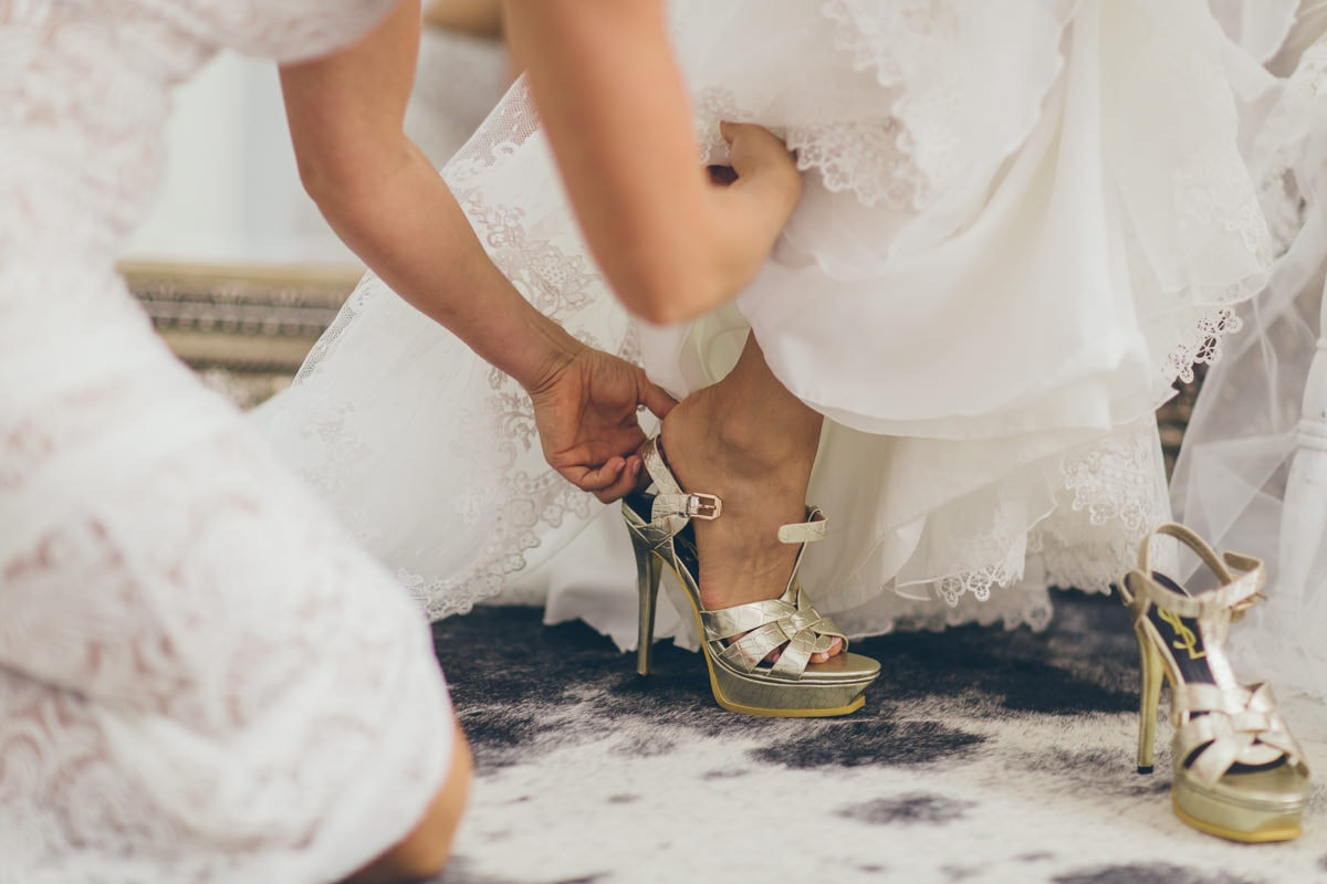 style me pretty shoes and dress wedding - stylish wedding in melbourne
