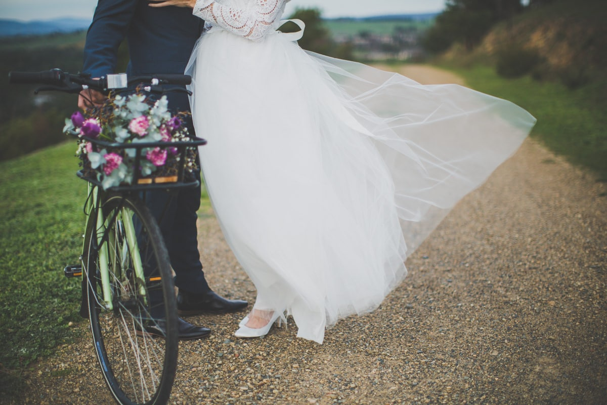 romantic wedding bike photography - vintage melbourne photographer