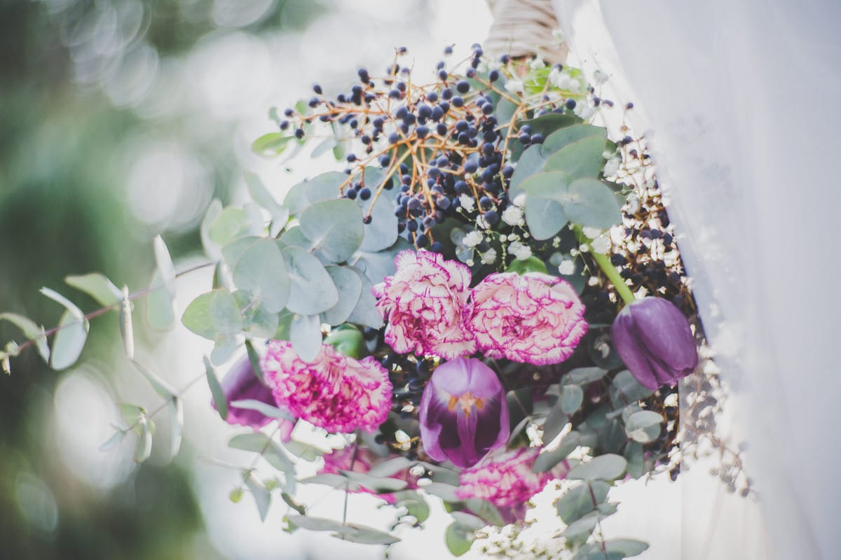 Bridal Bouquet - Natural flowers simple but stylish - pink - purple in Country Victoria