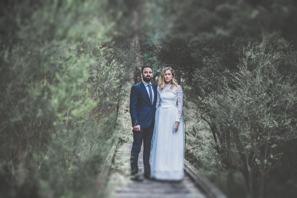 Beautiful Wedding Couple in Country Victoria, Australia - Stunning Photography by Victorian Photographer