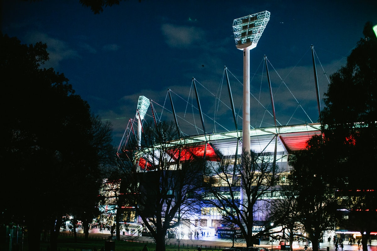 MCG - illuminated before major event - AFL event photographer