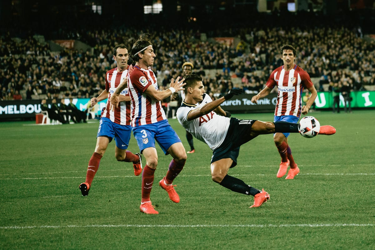 Erik Lamela nearly scoring at mcg - tottenham spurs - best photography