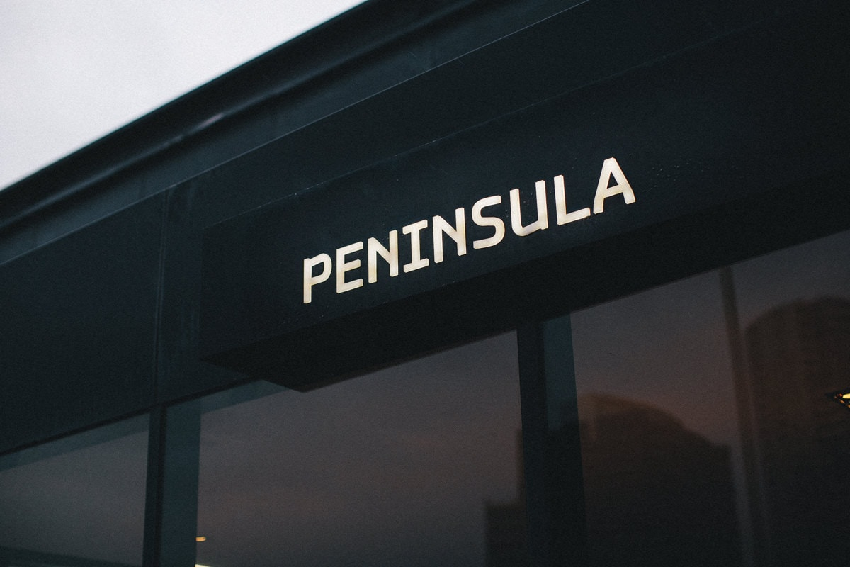 peninsula room sign