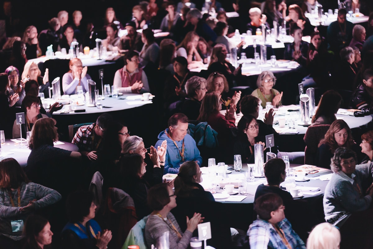 full tables - sold out conference in Melbourne - 2017 Conference Photographer - Best photos
