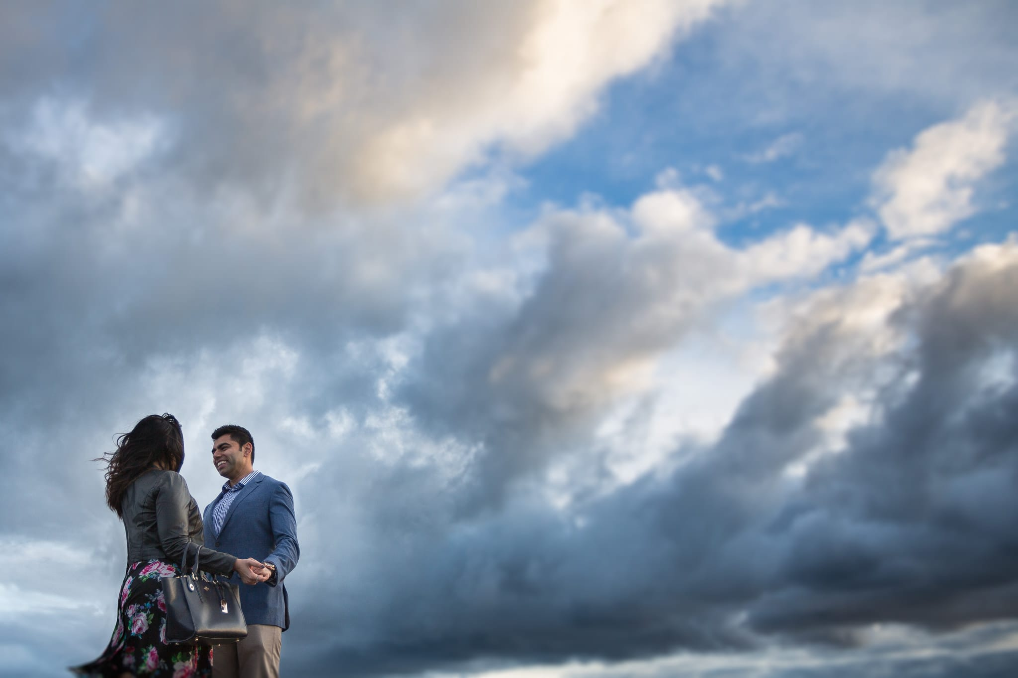 couple photography in melbourne - sky and clouds - creative photography