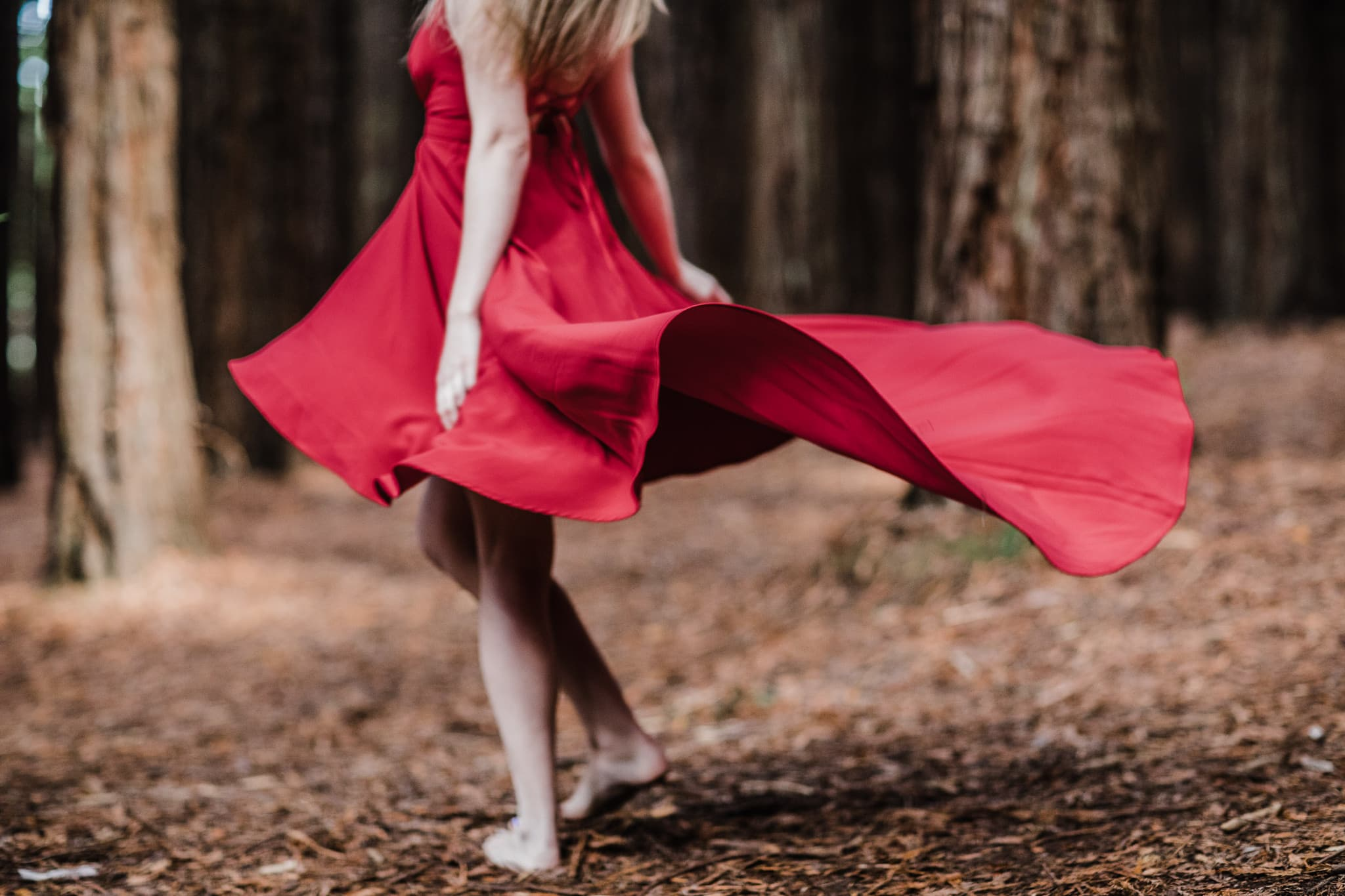 sweeping red dress - beauty & fashion motion photography