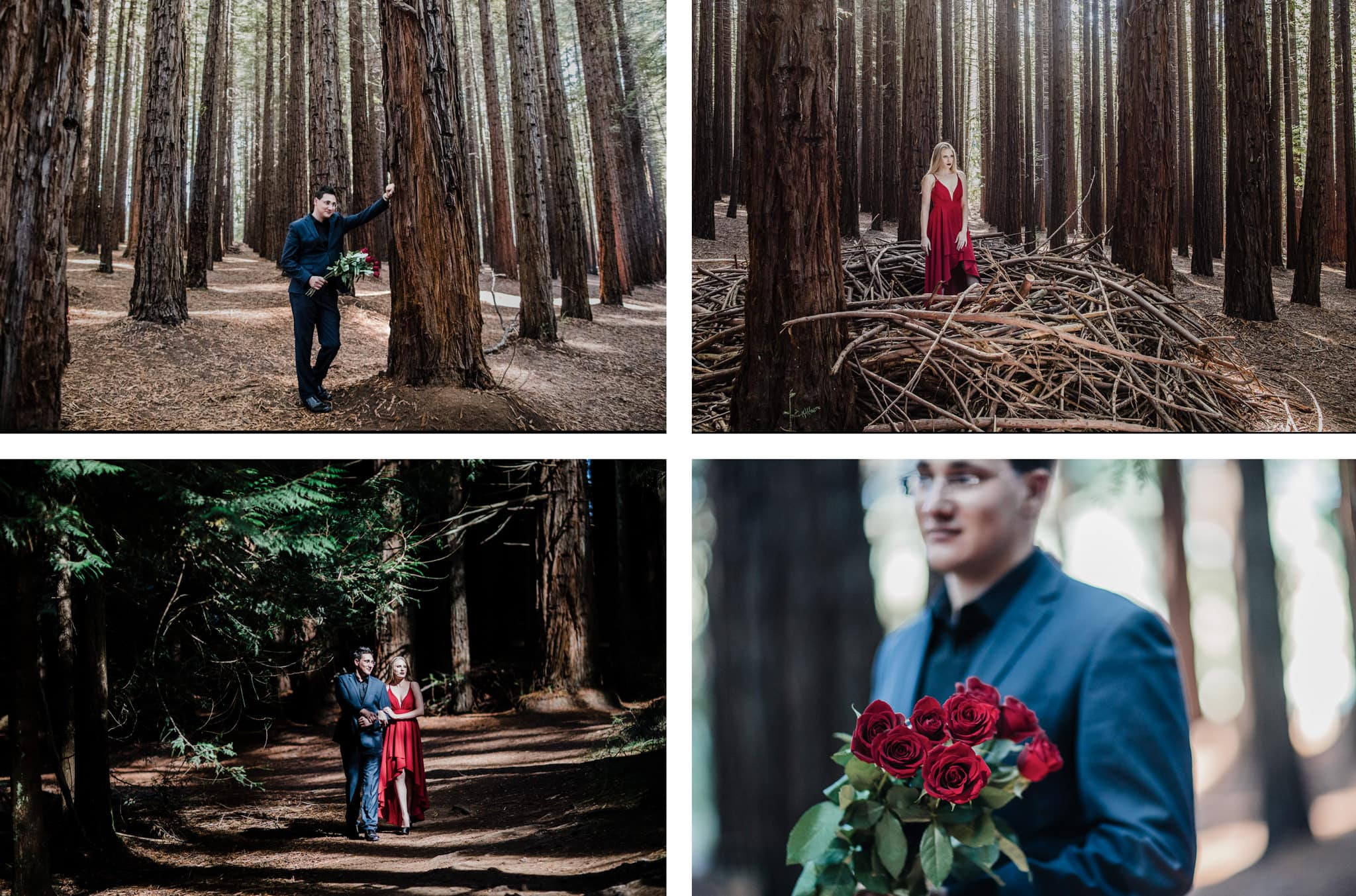 couples photography in Melbourne forest