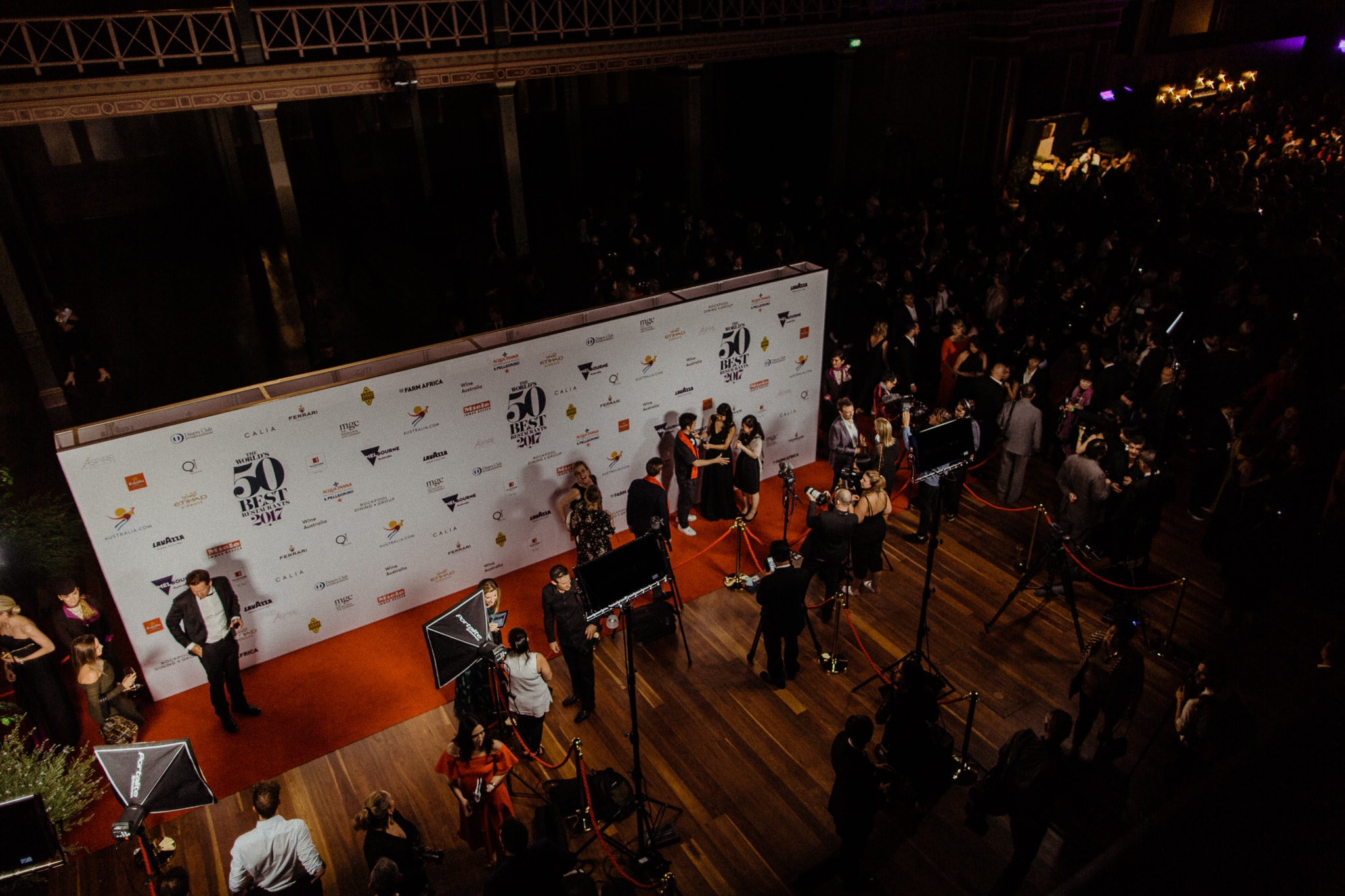 high end event photographer - 50 best awards media wall