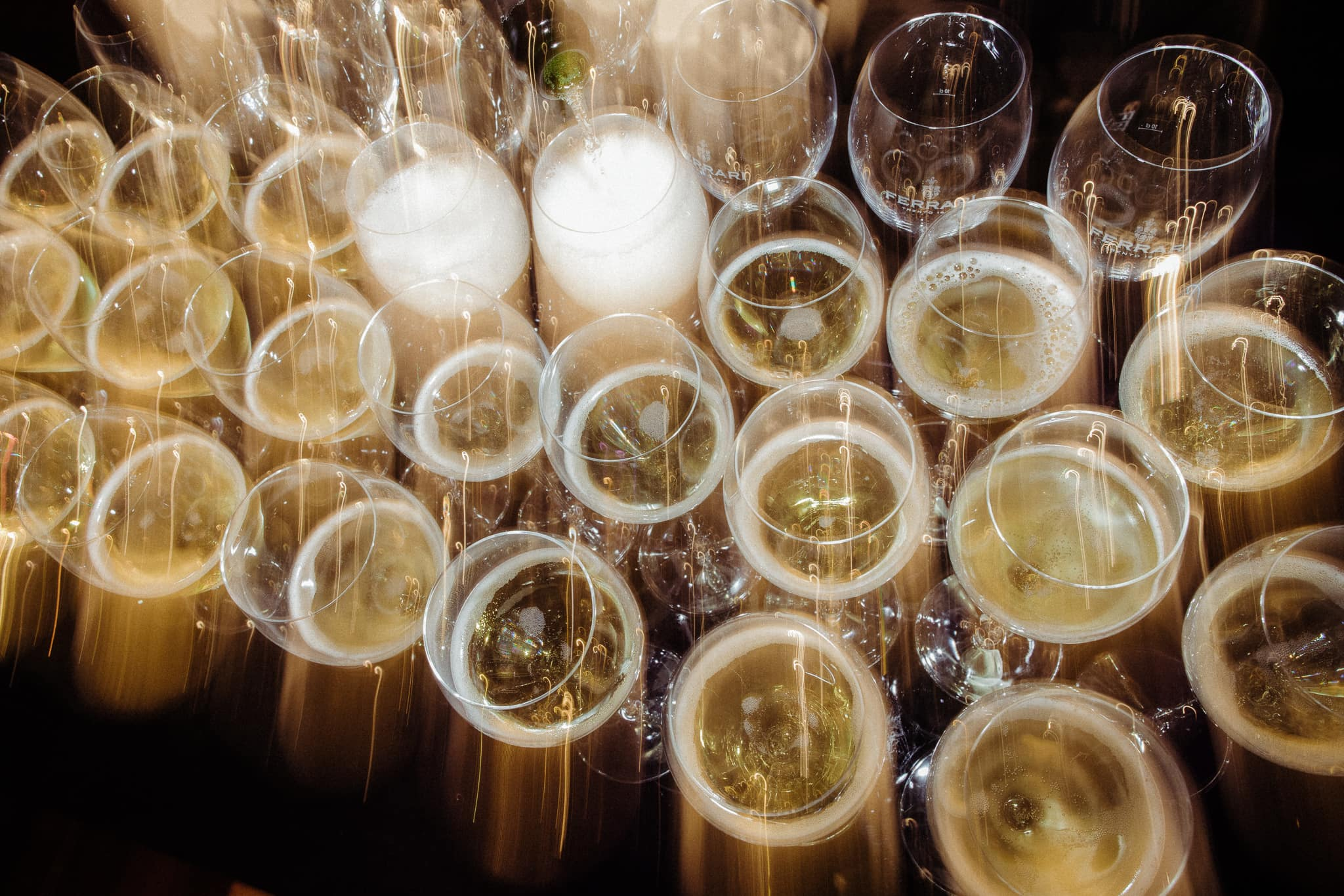 creative photo of champagne glasses - best photos