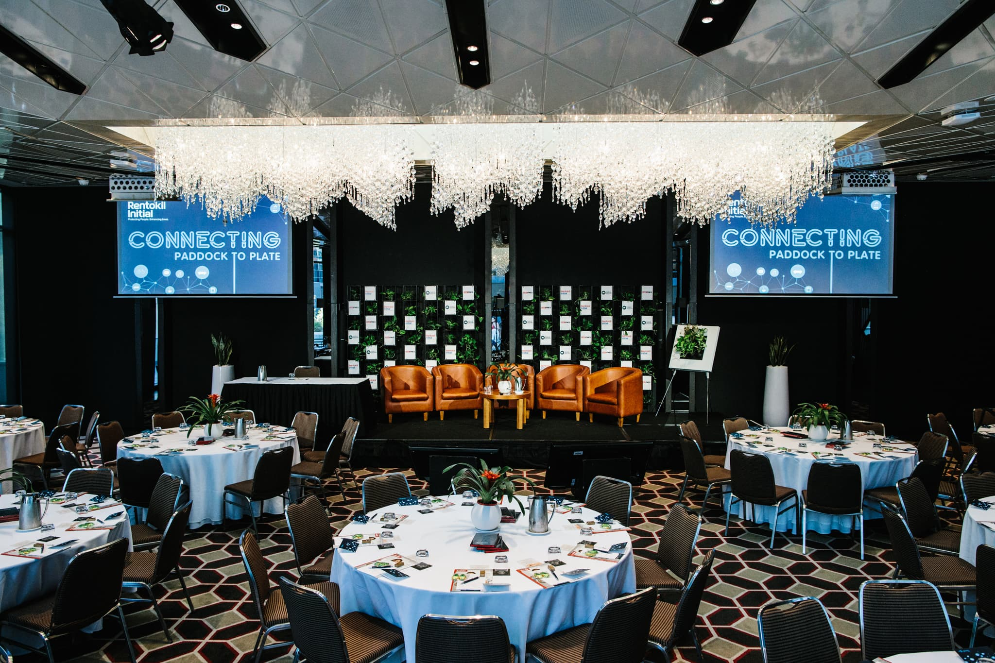 Photo of setup of event at the RACV Club in Melbourne - Event Photographer in Melbourne CBD