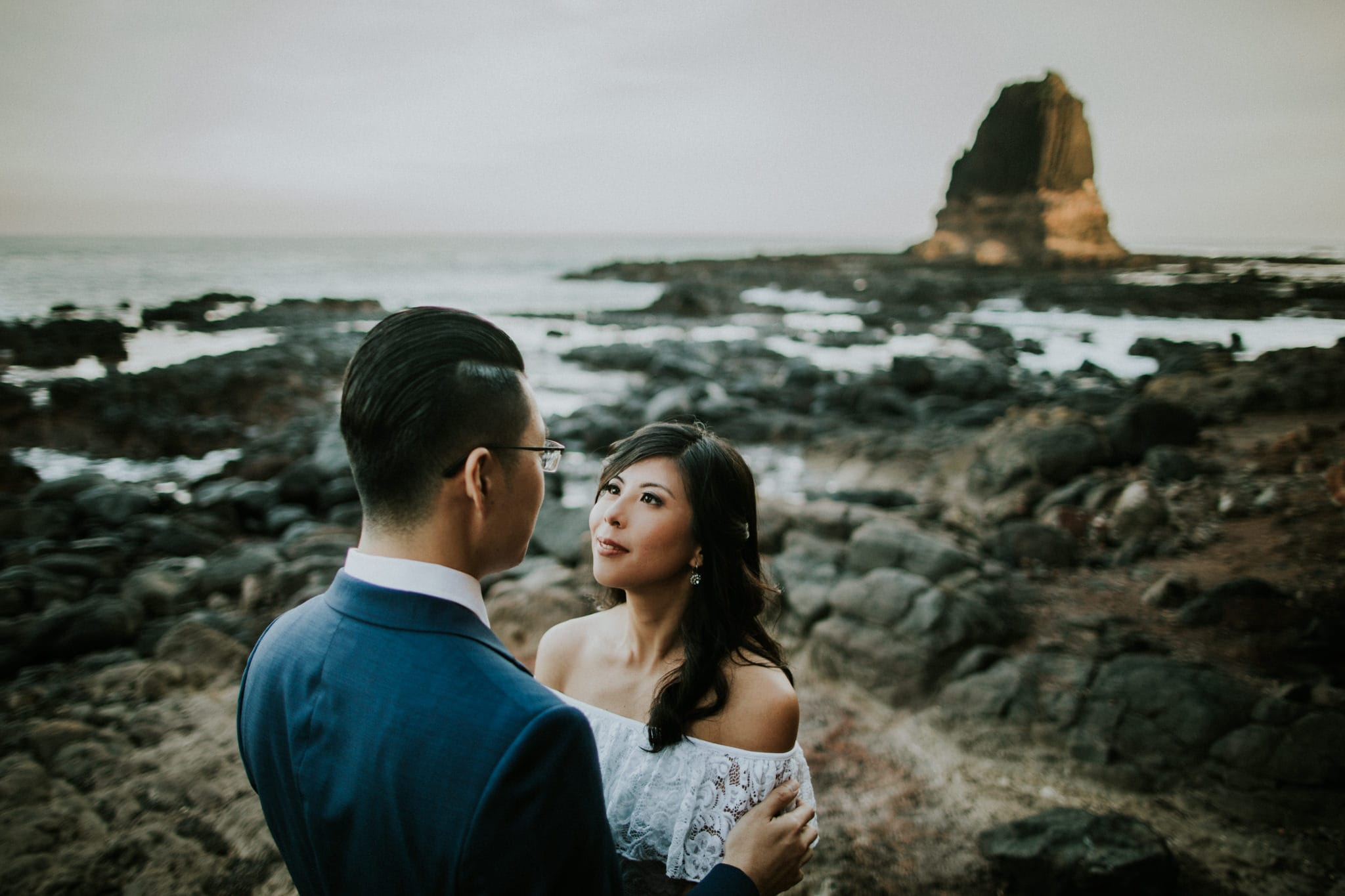 asian wedding couple from Singapore at location shoot in Australia